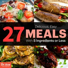 27 meals with 5 ingredients or less  http://www.draxe.com #health #holistic #natural