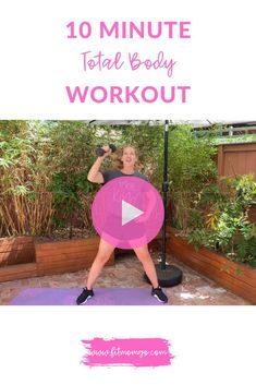 10 Minute Total Body Workout | Workout with Dumbbells Video #TotalBodyWorkout #10MinuteWorkout #WorkoutWithWeights Short Workouts, Cardio Workouts, Fit Board Workouts, Workout Tips, Workout Videos, At Home Workouts, Over 50 Fitness, Post Pregnancy Workout, 10 Minute Workout