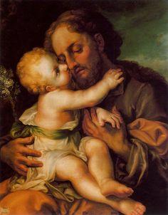 St. Joseph a model for fathers- - Happy Father's Day-San-José-con-el-Niño-Jesús