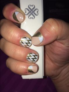 Classic gold and pink manicure with Edgy and Obsessed Jamberry nail wraps. Definitely a favorite combination of mine!