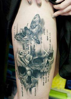 Tattoo Artist - Klaim Street Tattoo - skull tattoo - www.worldtattoogallery.com