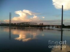 Sunset at Topsail Island Bridge by Shelia Kempf