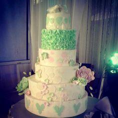 wedding cake ~ The Blue Cottage, Tagaytay