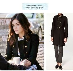 Pretty Little Liars 323: Aria's military style coat