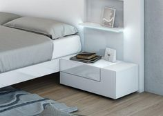 2 Drawer Garcia Sabate Tesis Modern Bedside Cabinet in Various Colours