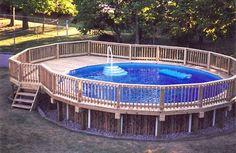 Deck Around Above Ground Pool Design