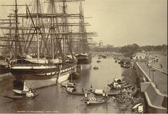 Rare Pictures, Vintage Pictures, East India Company, Merchant Navy, Vintage Boats, Herzog, Armada, Tall Ships, Kolkata