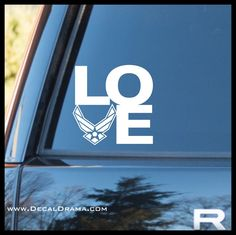 Love the US Air Force, United States Armed Forces Vinyl Car/Laptop Decal