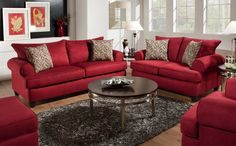 Giselle Sofa Red from Huffman Koos Furniture