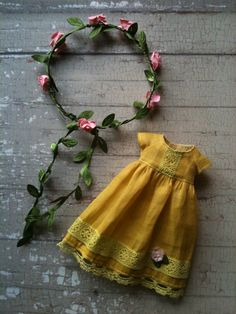 Sunflower Dress Set for Blythe by moshimoshi studio
