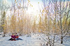 Jeff & Stacy's Maternity - Calgary Winter Woodland Maternity Photographer | Paisley Photography - Winter wonderland Maternity Photos - Forest maternity photos - maternity Photography