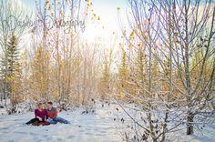 Jeff & Stacy's Maternity - Calgary Winter Woodland Maternity Photographer | Paisley Photography - Winter wonderland Maternity Photos - Forest maternity photos - maternity Photography