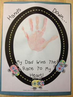 Father's Day handprint for back of lapbook.