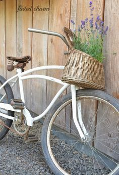 Basket of Flowers on a Bike