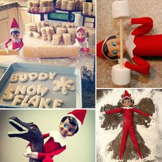 36 clever new spots for your Elf on a Shelf! Got to loovve the Elf! Reminds me of the Elfs My Nana had when I was a kid!!