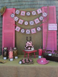 Cowgirl dessert table #cowgirl #birthday #desserttable
