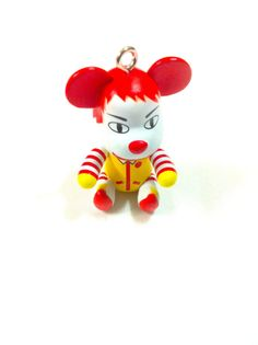 Ronald McDonald Clown Inspired Teddy Bear Charm by KajaSupplies