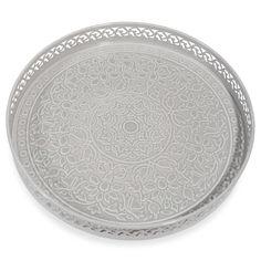 KAOMA grey metal tray D 31 cm