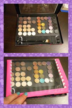 DIY Magnetic Makeup Palette (Z-palette substitute) | Cittie Tells. . .