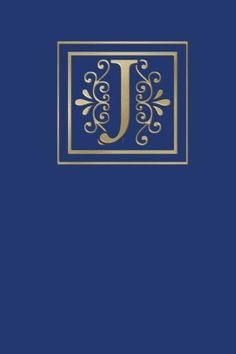 Ruled Monogram Journal J