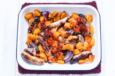 Sweet chilli sausage and butternut bake