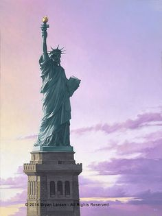 Lady Liberty by Bryan Larsen at Quent Cordair Fine Art - The Finest in Romantic Realism