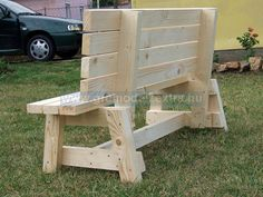 another garden bench seat built from a buildeazy plan made by Tokar