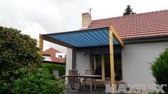 Elegantní kazetové markýzy určené na dřevěné, hliníkové a ocelové konstrukce a pergoly www.markyzy.cz www.zastreseniteras.cz