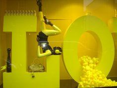 Yellow, letters, fluor