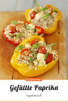 Gefüllte Paprika - Expolore the best and the special ideas about Fast recipes Healthy Recipes, Veggie Recipes, Lunch Recipes, Diet Recipes, Vegetarian Recipes, Healthy Lunches, Recipes With Chicken And Peppers, Chicken Recipes For Kids, Recipe Chicken