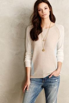 Needles Blocked Cashmere Pullover #anthrofave #anthropologie