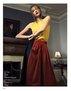 visual optimism; fashion editorials, shows, campaigns & more!: home alone: mina cvetkovic by dario catellani for interview germany march 2015