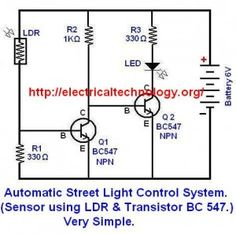 Automatic Street Light Control System using LDR & Transistor BC 547 ...