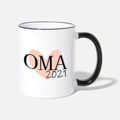 Oma 2021 Tasse zweifarbig Mugs, Tableware, Design, Team Bride, Pregnancy, Dinnerware, Tumblers, Tablewares, Mug