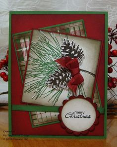 Ornamental Pine, MOJO371 by Stampin.Scrapper - Cards and Paper Crafts at Splitcoaststampers