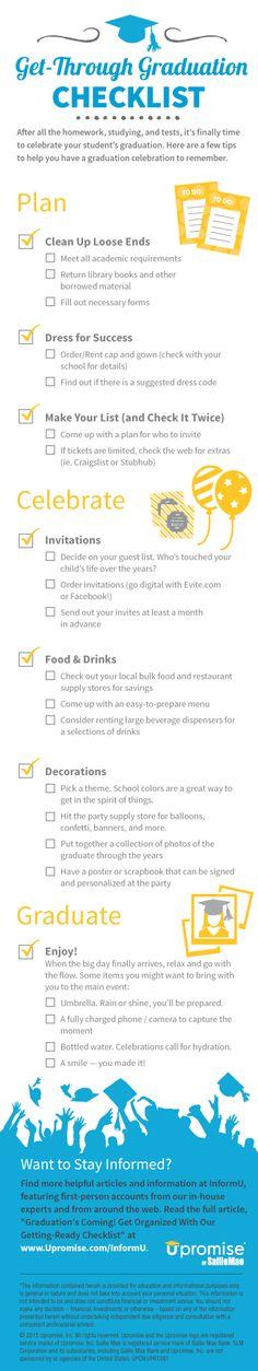 The Graduation Checklist   5minutesformom.com