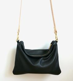 Soft Leather Crossbody Pouch by Umbrella Collective