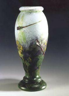 """Auguste et Antonin Daum - Vase """"Libellule"""""""