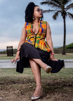 Afrokulcha shop online at www.afrokulcha.com #afrokulcha #africanfashion African Outfits, African Attire, African Dress, African Fashion, African Print Clothing, African Clothes, African Prints, Ankara Jackets, African Tops