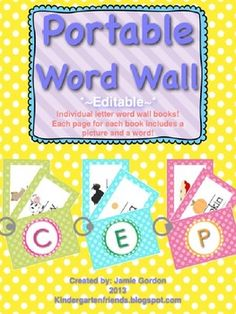Portable Word Wall! Perfect space saver to incorporate in any primary writing center!