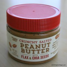 Crunchy Salted Peanut Butter with Flax & Chia Seeds #traderjoes