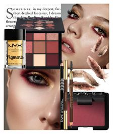 """Burgundy and Gold"" by golda-grais ❤ liked on Polyvore featuring beauty, Huda Beauty, NYX, NARS Cosmetics, Yves Saint Laurent, gold, Beauty and thanksgiving"