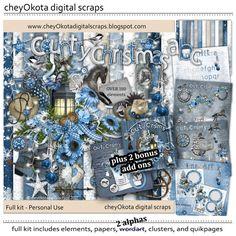Country Christmas Bundle - over 240 pcs including alphas - Digital Scrapbook Kit