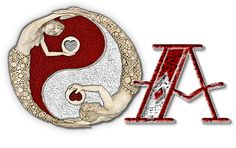 Alfabeto Ying-yang muy original.   Oh my Alfabetos!