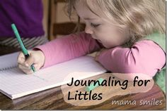 Journaling for Littles - an incredibly easy way to promote early childhood literacy!