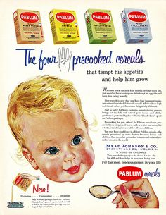 Vintage Ads Fed this to my baby brother. The word Pablum still used idiomatically.