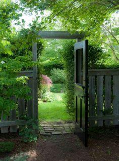 a unique garden gate