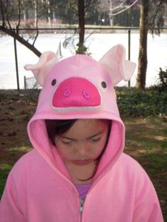 WADDLES inspired Pig hoodie for Adult Gravity Falls  by PoppityPop, $56.00