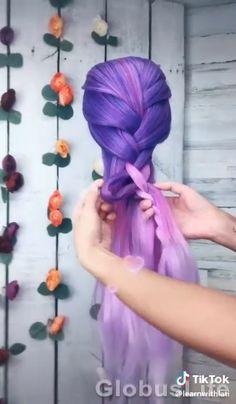 Dip Dye Hair, Dyed Hair, Front Hair Styles, Medium Hair Styles, Up Hairstyles, Braided Hairstyles, Doll Hair Detangler, Hair Tutorials For Medium Hair, Hair Streaks