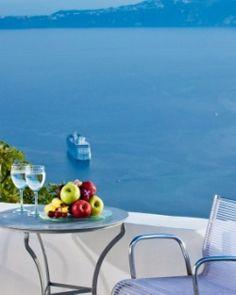 Chromata Hotel  ( Santorini, Greece )  Each room has its own terrace overlooking the caldera and the Aegean Sea. #Jetsetter #JSVolcano  #JSBeachDining